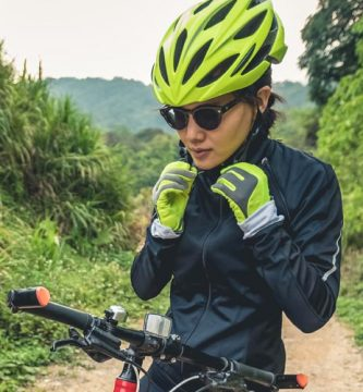 cuidado de los ojos para los ciclistas
